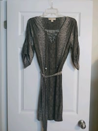 Michael Kors grey python print dress size medium