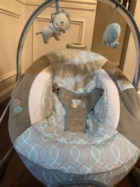 baby's gray and white bouncer Fairfax, 22030