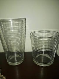 two clear drinking glasses Dollard-des-Ormeaux