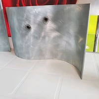 Magnetic brushed silver decor