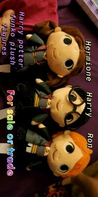 Harry Potter funko plushies harry Hermione and ron