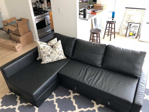 Ikea Friheten Sleeper Sectional Couch Leather