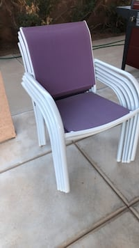 6 patio stack chairs Glendale, 85308