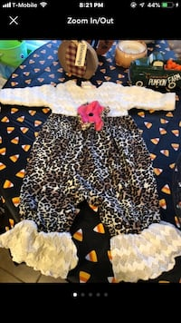 Boutique baby girl leopard and lace romper outfit  Rock Hill, 29732