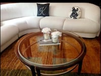 round brown wooden coffee table 37 km