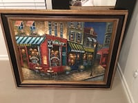 Framed Painting Art French Cafe Delray Beach, 33446