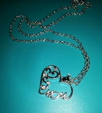 silver-colored heart pendant necklace Montreal, H8T