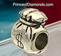 Silver coloured money bag $ bead fits pandora bracelet Brampton, L6R 1X5
