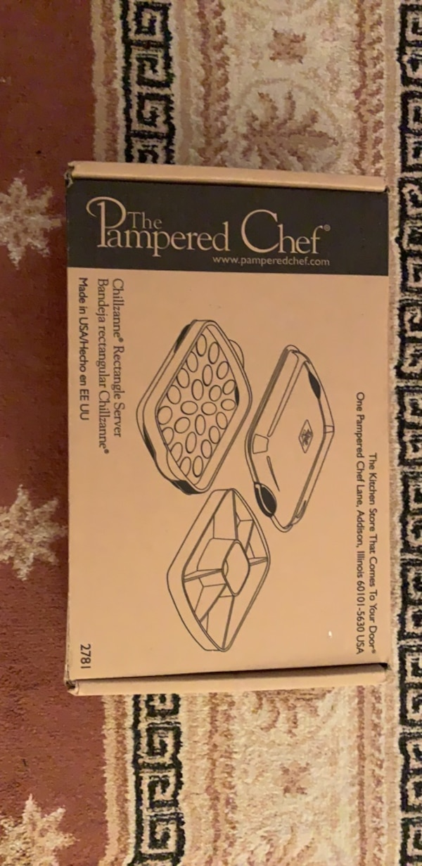 The pampered chef rectangle server can use for deviled eggs etc.  a6652adc-6f6d-4a62-970e-109596cf2b36