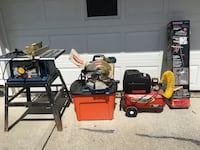 Table saw, miter saw & work station, compressor Bedford Heights, 44146
