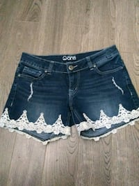 women's blue denim short shorts Regina, S4S 4G2