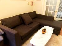 Delivery Included(within 40 min of DT TO) Dark grey sectional. Toronto, M6J 3K2