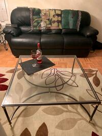 large Glass coffee table. approximately 4' by 4'   Brampton, L6P 1M3