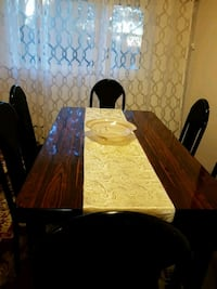 brown wooden table with chairs Vancouver, V5M 3X7