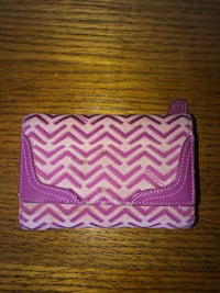 Pink patterned wallet Cambridge