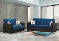 NEW BLUE /BLACK SOFABED AND LOVESEAT BOTH WITH STORAGE AND CONVERTIBLE Clifton, 07013