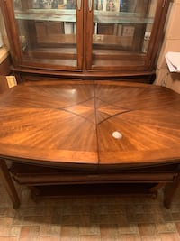 Brown Dining Room Table With Leaf Included  Washington, 20019