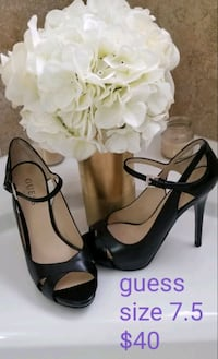 Black Guess peep toe pumps-size 7.5 Kitchener, N2E