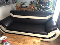 Leather couch for pick up