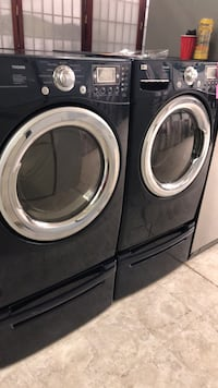 two black front-load clothes washer and dryer set Laurel, 20707
