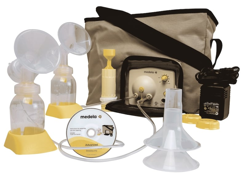 Used Medela Advanced Personal Double Electric Breast Pump Tan