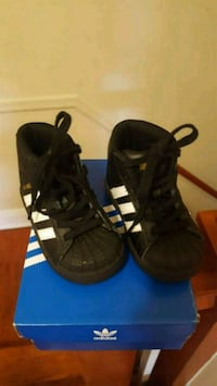 pair of black Adidas high-top sneakers Baltimore, 21215