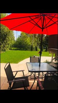 Patio Set with Umbrella and Base