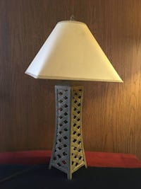 Square white table lamp