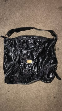 black and white leather hobo bag Hagerstown