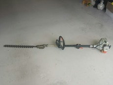 gray and black hedge trimmer