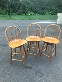 two brown wooden windsor chairs Long Grove, 60047
