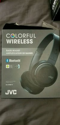 black Jvc wireless headphones brand new in the box