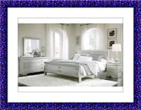 Bedroom Set Silver New with Mattress High Quality Elkridge, 21075