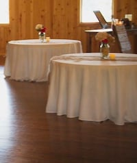 Ivory polyester table linens-price is per linen