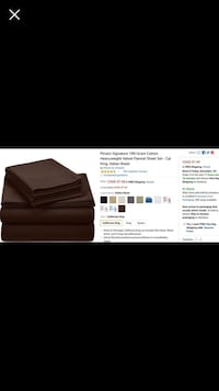 Brand new queen size velvet flannel sheet set 3143 km