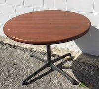 Sturdy Wood Round Table with Steel Legs 41 x 28  Orlando, 32804