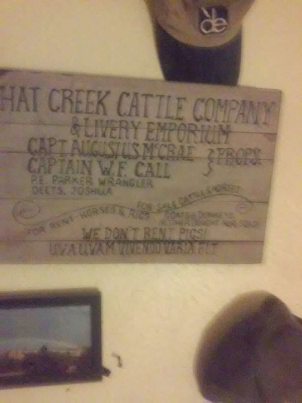 0f5e65dd4df Used hat creek cattle company wooden signboard for sale in Odessa ...