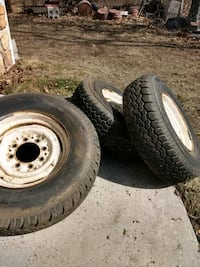 two gray auto wheel with tires Great Cacapon, 25422