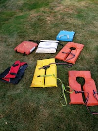 life jackets and throwable cushions