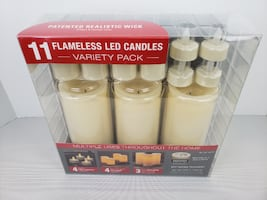 11 FLAMELESS CANDLES