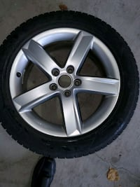 Audi set of 4 winter tires on rims