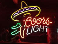 Coors light chili peppers neon