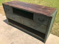 gray and black wooden TV stand Winnie, 77665