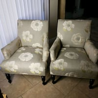 two gray floral padded armchairs Las Vegas, 89134