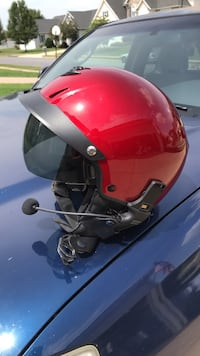 Red and black half-face helmet Winchester, 22602