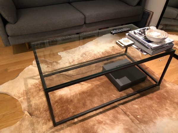 Used West Elm Streamline Glass Coffee Table For Sale In Newyork