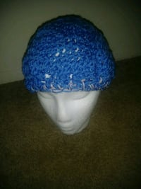 blue and white knit cap Beltsville, 20705