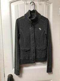 Grey Abercrombie button-up coat