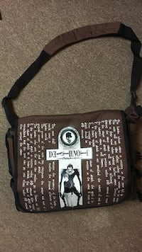 brown and white Death Note crossbody bag Sault Ste Marie, P6B 5T3