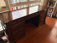 Almost New Hooker Brand computer desk-hutch